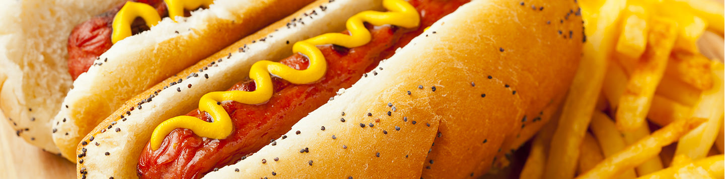 How to learn to speak English - can you say; hot dogs with mustard and fries on the side