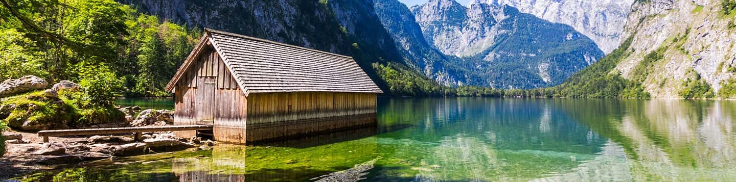 Berchtesgaden National Park in Germany header of Rosetta Stone Basic German Words page