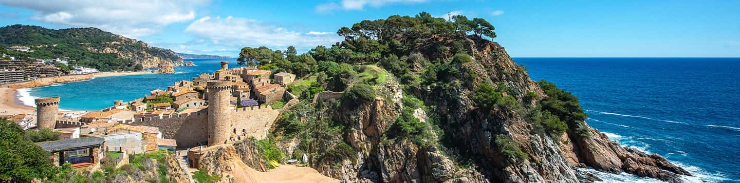 Tossa de Mar in Spain header of Rosetta Stone Foreign Languages page