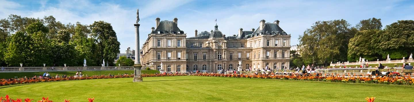 Jardin du Luxembourg in France header of Rosetta Stone French Dictionary to English page