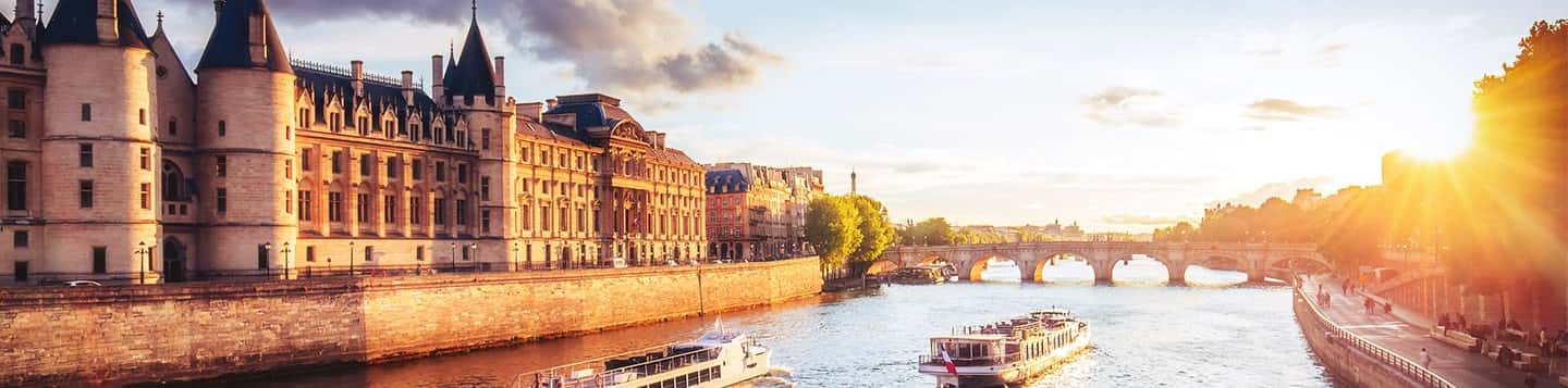 Seine River in France header of Rosetta Stone French Immersion Courses page