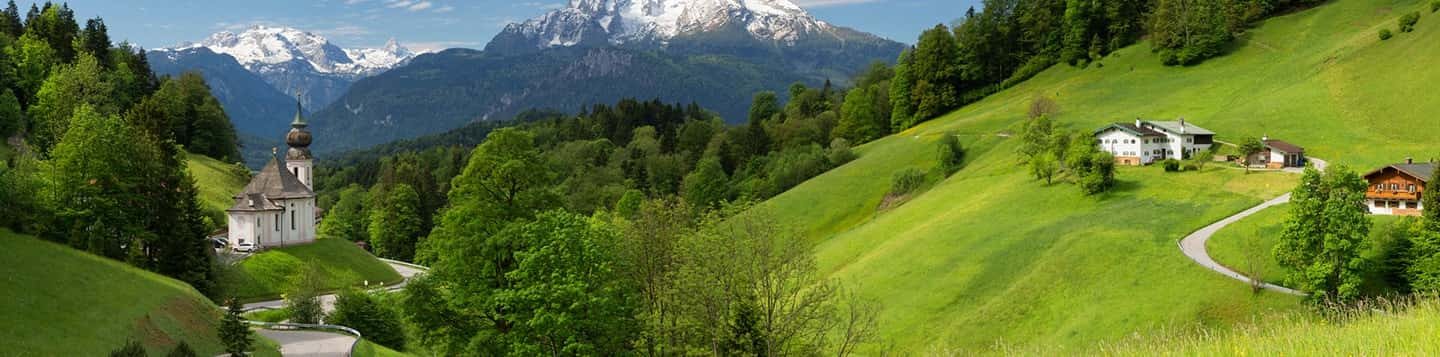 view of Mount Scenery header of Rosetta Stone Online German Lessons page