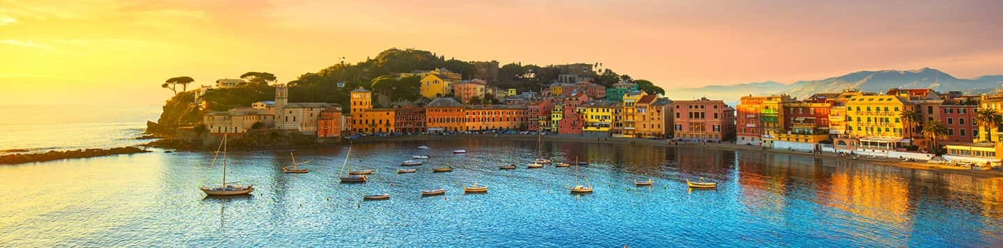 ocean view of Italian bay header of How to say good day in Italian language page