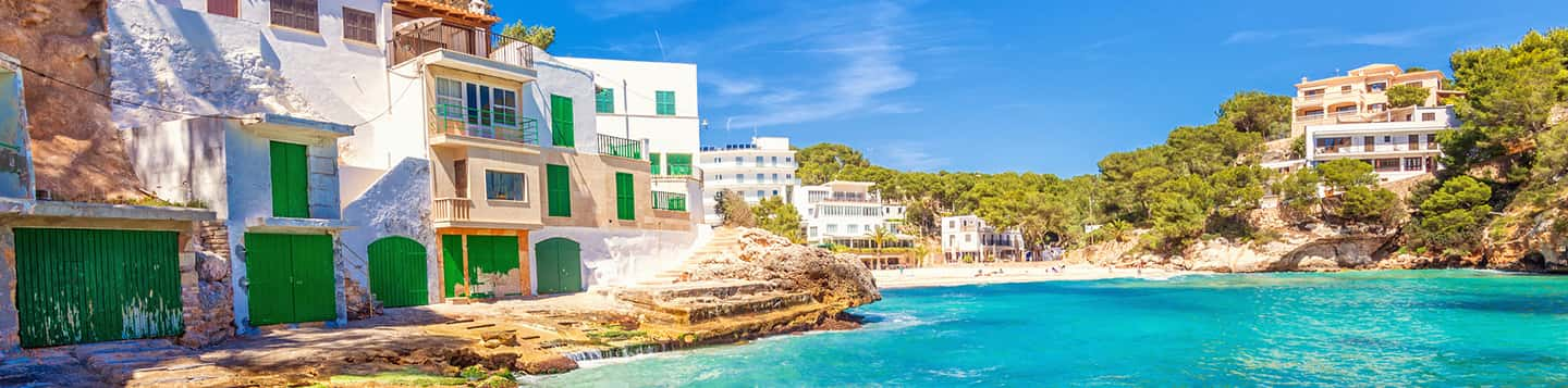 Mallorca beach in Spain as header of How to Say Go In Spanish page