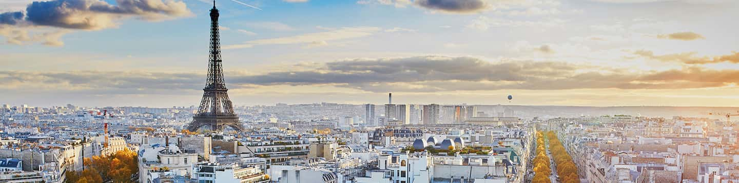 city view Eiffel Tower as header of How To Say How Are You In French page