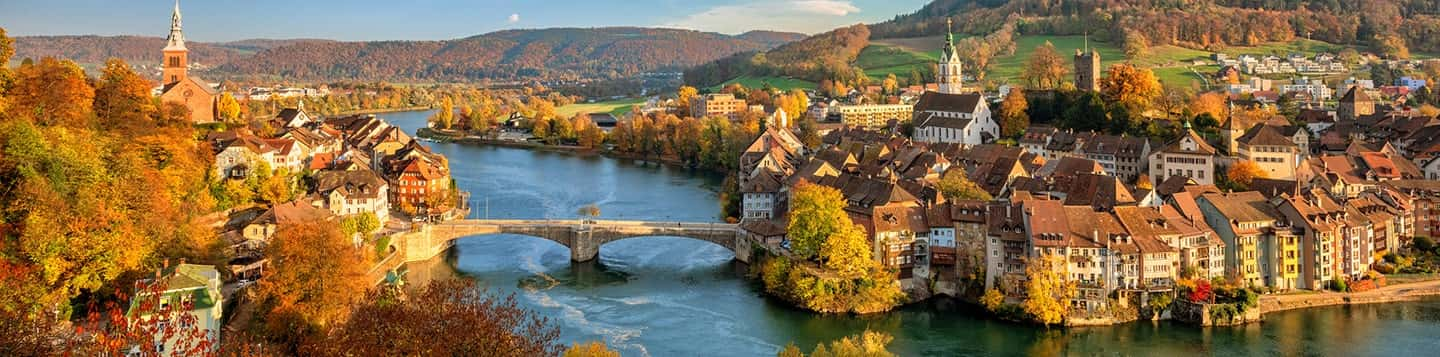 German alps in the Fall header of Rosetta Stone Why German is Easy to Learn page