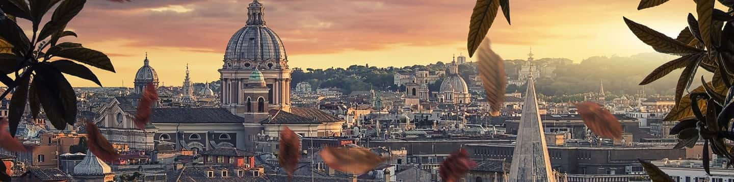 Rome in Italy header of Rosetta Stone Online Italian Course page