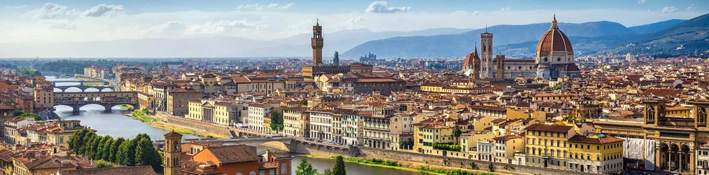 Piazzale Michelangelo in Florence in Italy header of Rosetta Stone Words page
