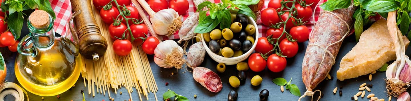 Italian fruits and vegetables header of Rosetta Stone Italian Words for Food page