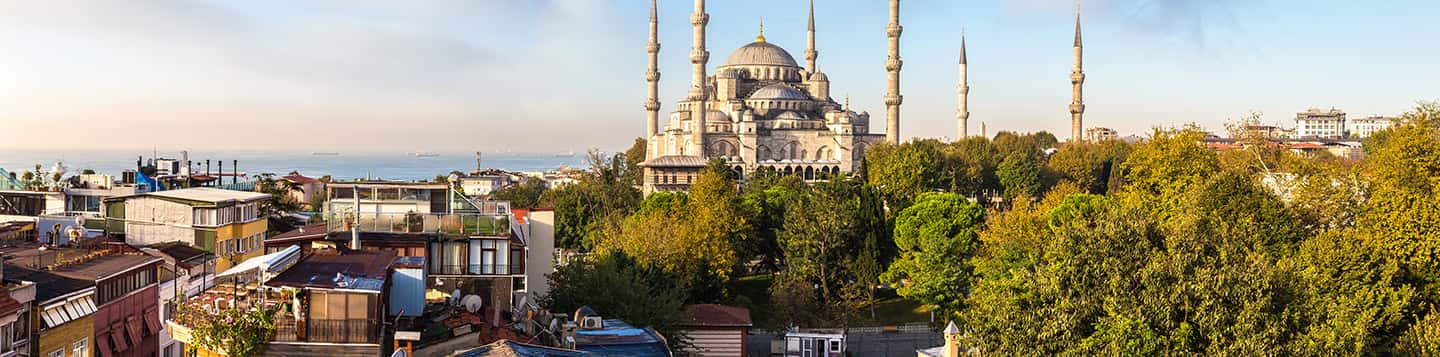 Turkish country city view header of Rosetta Stone Learn Turkish page