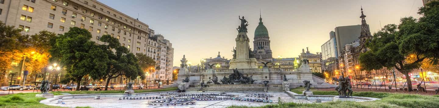 Park in Buenos Aires header of Rosetta Stone Let's Go in Spanish page