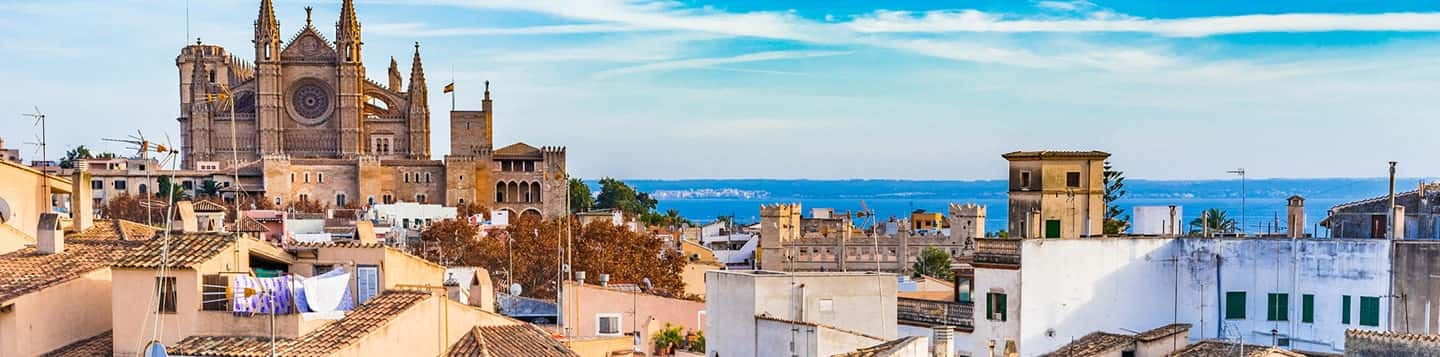 City of Palma in Spain header of Rosetta Stone Basic Spanish Sentences page