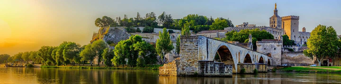 Avignon in France header of Rosetta Stone Study French Online page