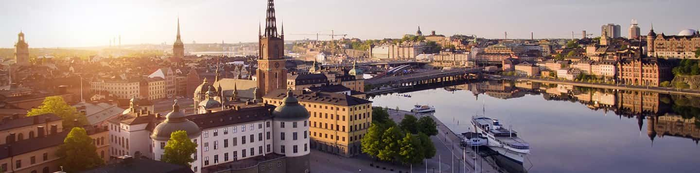 aerial view of the Kingdom of Sweden header image of Yes in Swedish