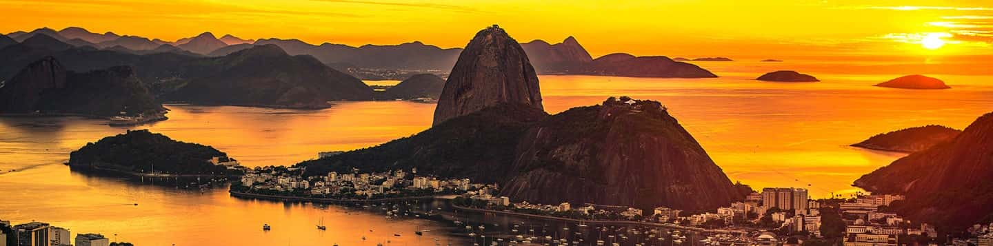 Sugarloaf Mountain in Rio de Janeiro in Brazil header of Rosetta Stone Portguese Language Phrases page
